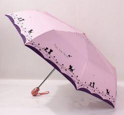 Сгъваем чадър с котки
