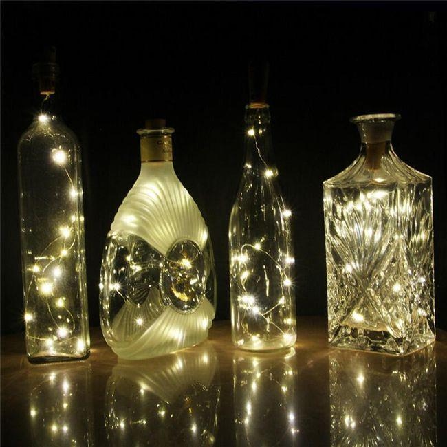 Dekoracja LED w kształcie korka do butelki 1