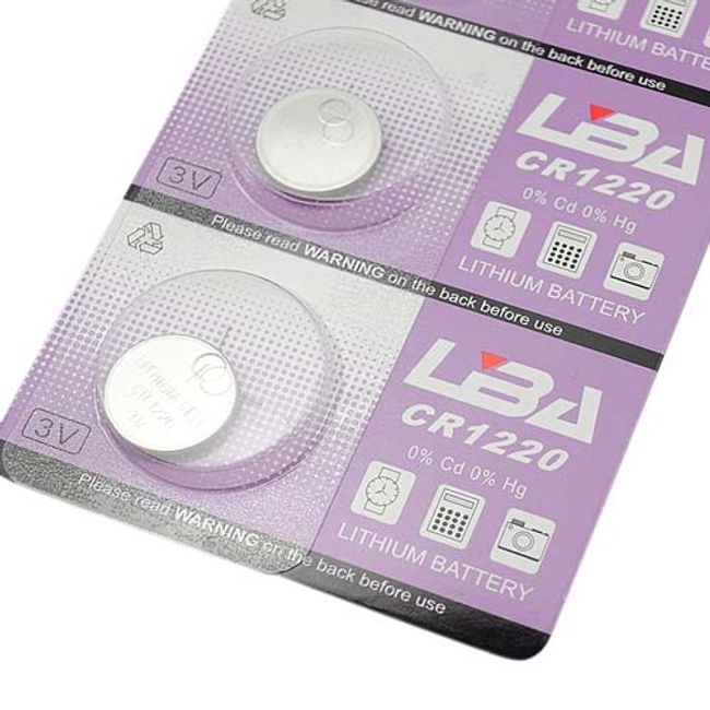 5ks Lithiová knoflíková baterie CR1220 1