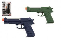 Pistolet  17cm plastik na baterie ze światłem z dźwiękiem 3 kolorach na karcie  RM_00850232