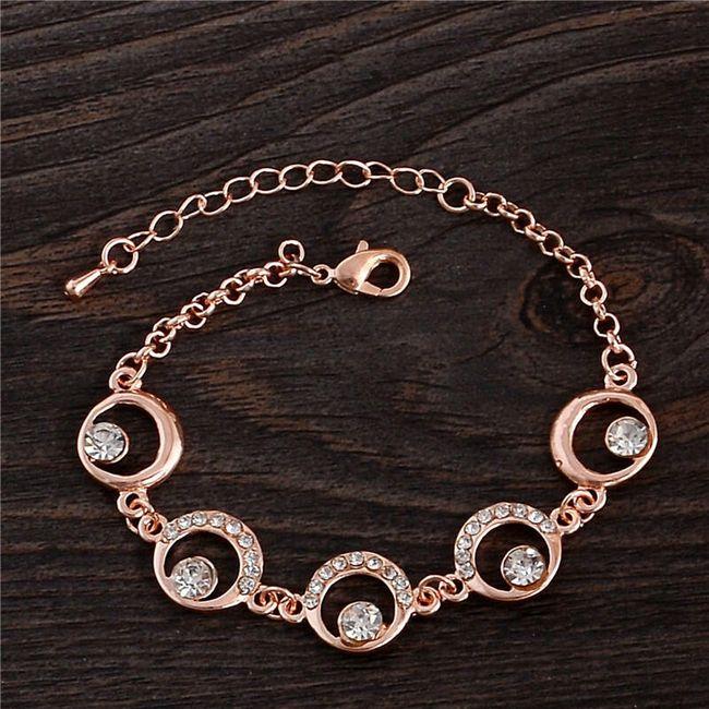 Náramek s kroužky a kamínky 1