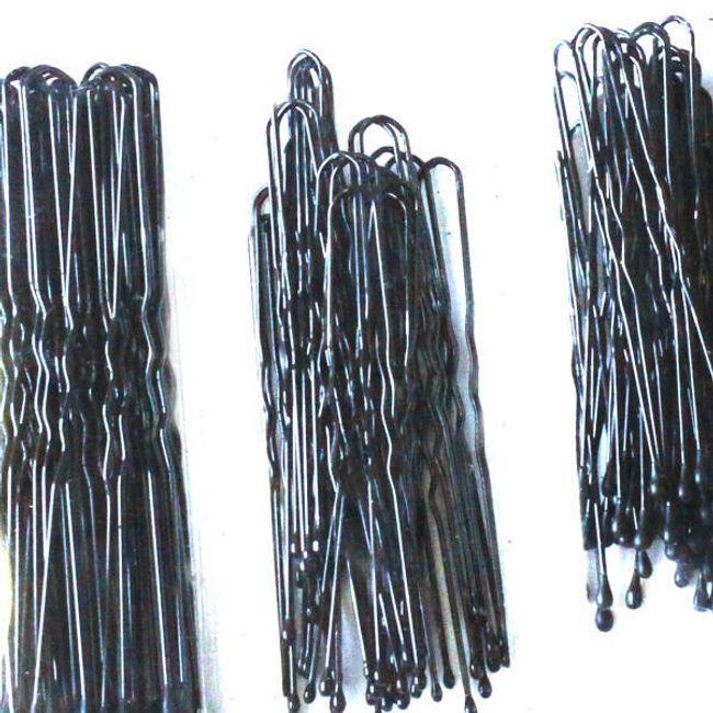 Zestaw 100 sztuk szpilek do włosów - 3 wielkości w opakowaniu 1