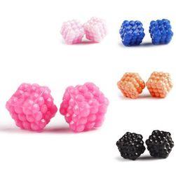 Mini kolorowe kolczyki w kształcie kostki