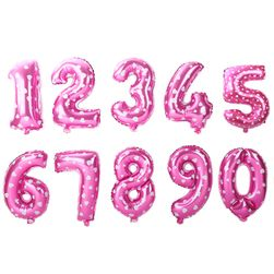 Rakam şeklinde şişme balonlar