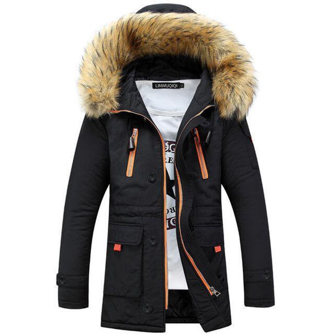 Pánská zimní bunda Dexter s umělým kožíškem 1