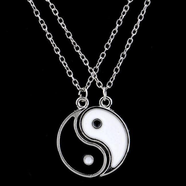 Dvojitý náhrdelník s přívěskem JING JANG 1