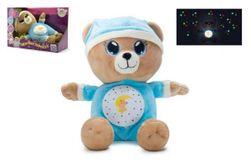 Medvídek Usínáček modrý plyš 32cm na baterie se světlem a zvukem v boxu 12m+ RM_00514004