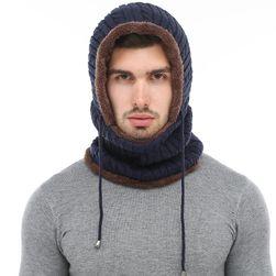 Muška topla marama sa kapuljačom