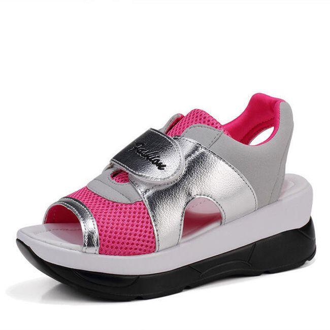 Dámské turistické sandále na suchý zip - Růžová - 22,5 cm (vel. 35 cm) 1