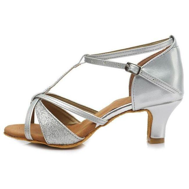 Taneční střevíce - Stříbrná barva 5cm-39 1