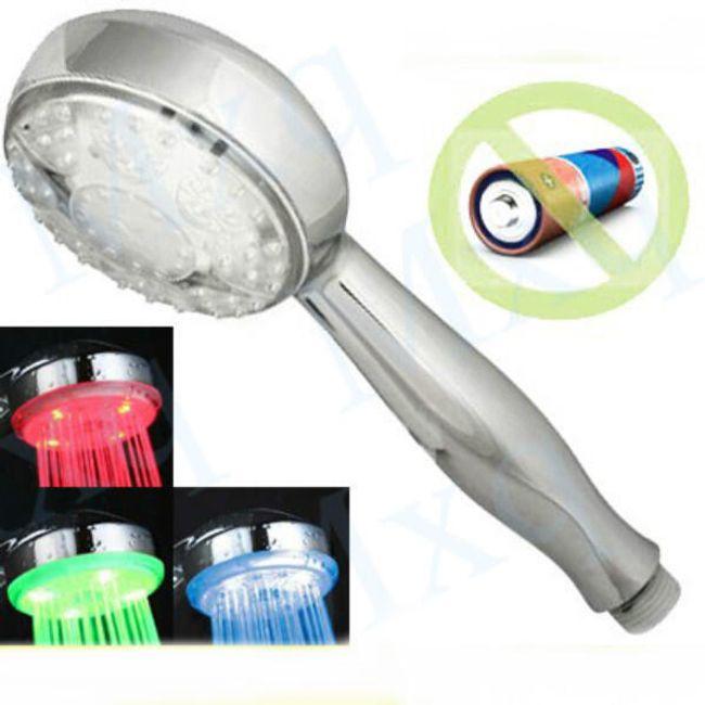 9 LED hlavice na sprchu s barevným světlem podle teploty vody 1