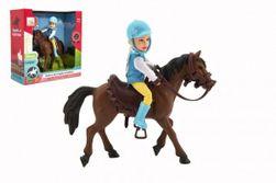Kôň + bábika / panáčik džokej plast 20 cm v krabici 23x23x9,5cm RM_00850384