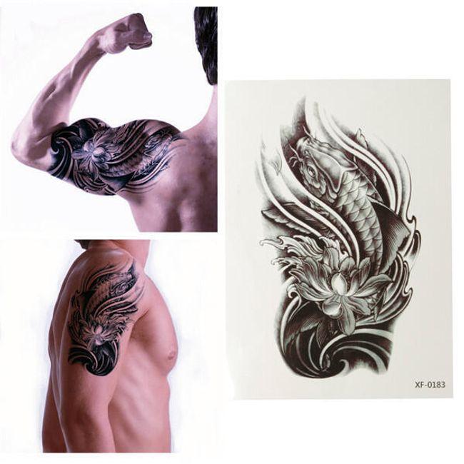 3D переводная татуировка с мотивом Рыбы 1