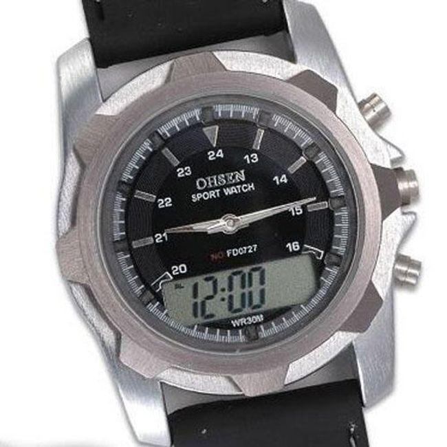 Pánské sportovní multifunkční digitální hodinky - 7 barev podsvícení 1