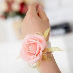 Brățară cu floare pentru domnișoare de onoare - 4 culori