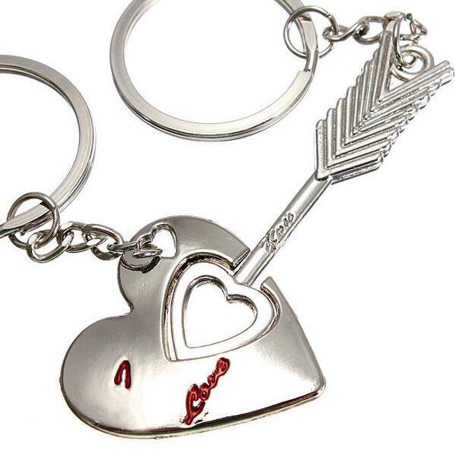 Přívěšek na klíče Amorův šíp - 2 kusy 1