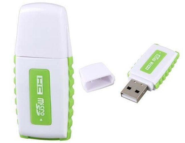 Zielono-biały czytnik kart pamięciowych 1