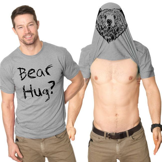 Férfi szürke póló - BEAR HUG