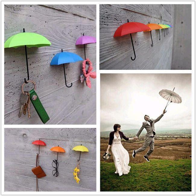 Стильные крючки зонтики- 3 шт. 1