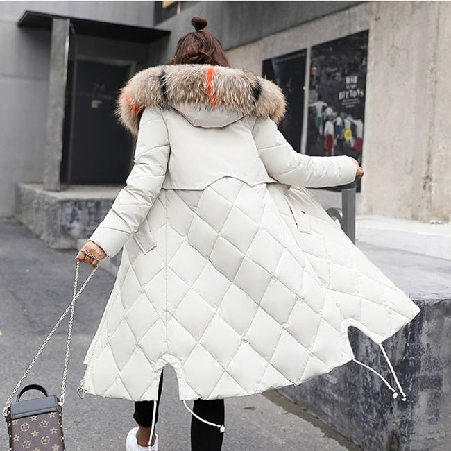 Dámský zimní kabát Angelica - Bílá-XS 1