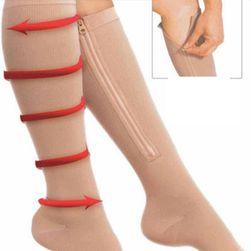 Kompressziós térd zokni egy praktikus cipzárral