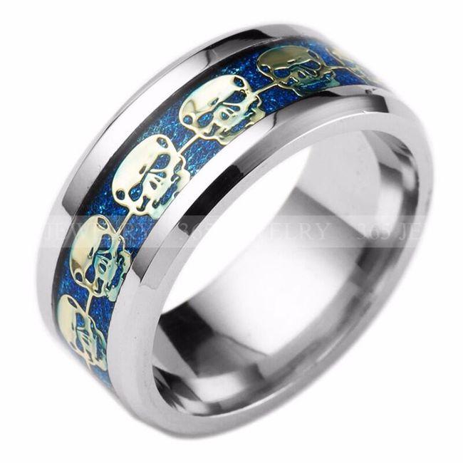 Širší prsten s lebkami - 3 barvy 1