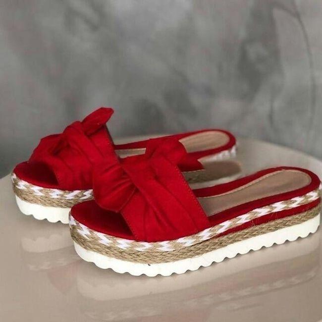 Damskie sandały Finley-červené 1