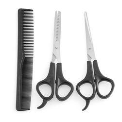 Комплект фризьорски ножици и гребен Brooklyn