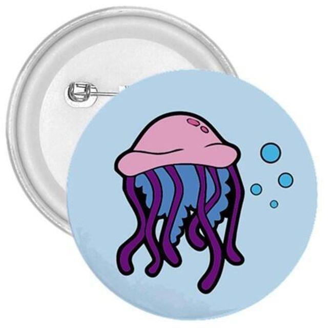 Значок- Морская медуза 1