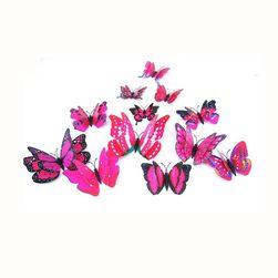 Пакет самоклеящихся 3D бабочек - микс цветов
