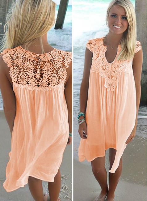 Dámské letní šaty plus size Joli - Oranžová-velikost č. 3 1