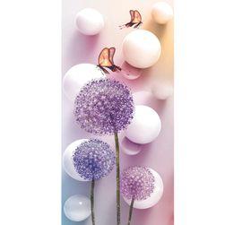 DIY kép strasszok - pitypang csokornyakkendővel