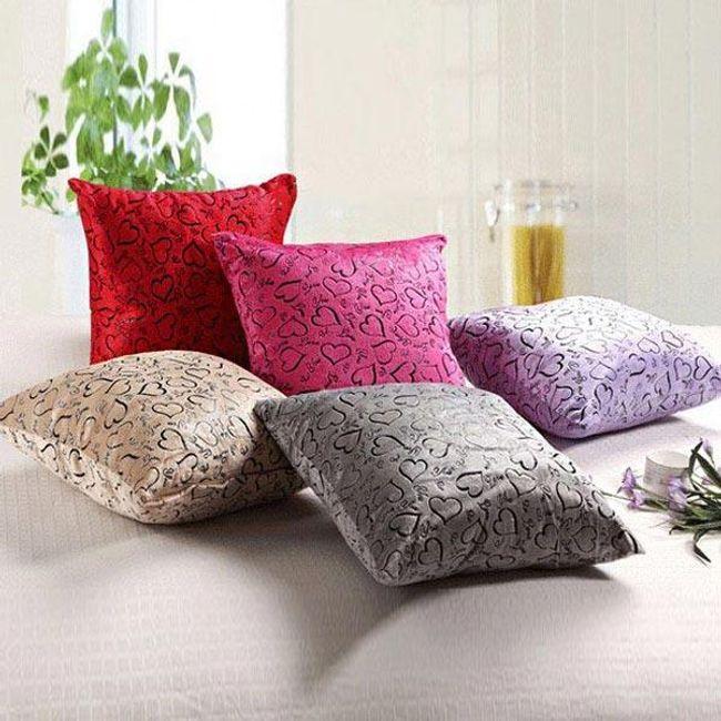Poszewka na poduszkę z serduszkami - oferujemy kilka kolorów 1