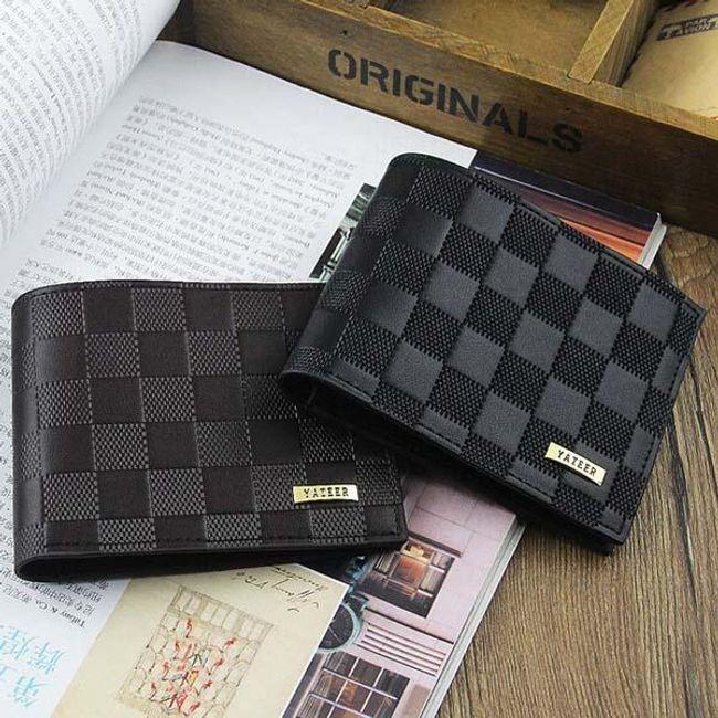 Pánská peněženka s kostičkovým designem - 2 barvy 1