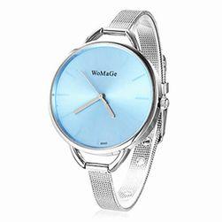 Елегантен дамски часовник с тънка каишка
