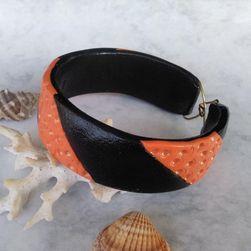 Fekete-narancs karkötő