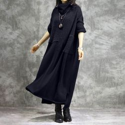 Дамска рокля в плюсови размери Nora