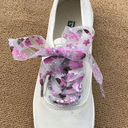 Атласный шнурки с цветочками