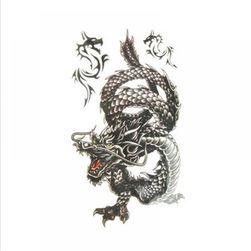 Dočasné tetovanie - draci