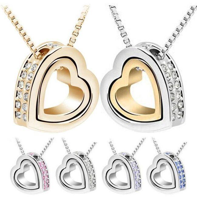 Colier elegant cu pandantiv inimă 1