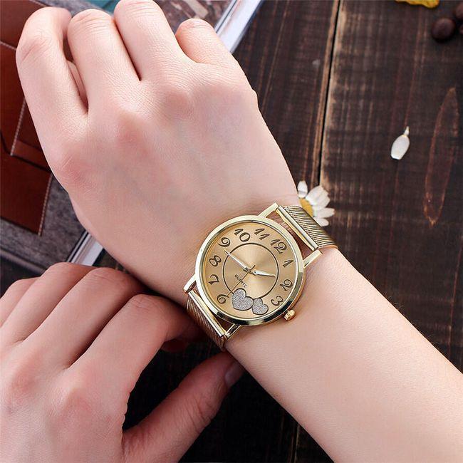 Dámské hodinky se srdíčky v luxusním stylu 1