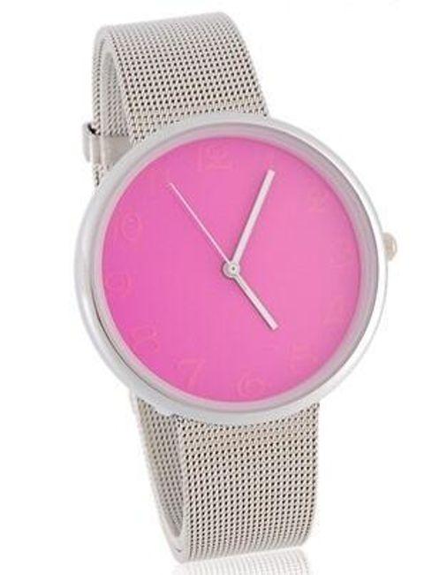 Srebrny zegarek z srebrną tarczą 1