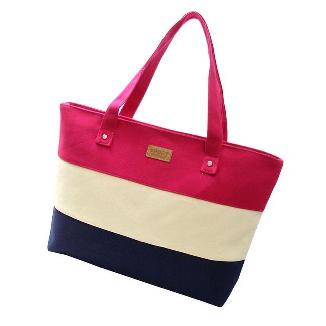 Женская сумка с полосками - 5 цветов 1