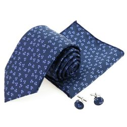 Pánská kravata s manžetovými knoflíky a kapesníčkem - 20 variant