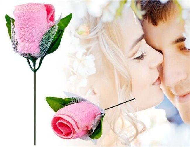 Ajándék törülközőt rózsa formájában 1