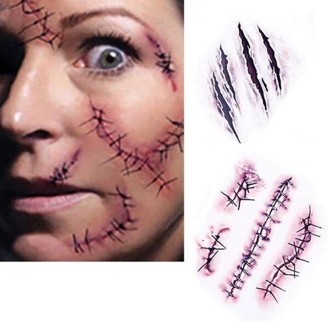 Переводная татуировка- Набор шрамов 1
