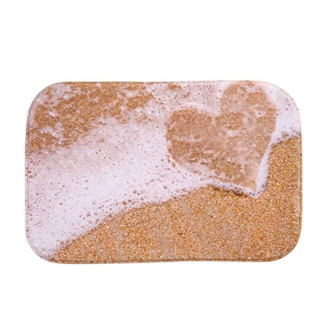 Koupelnová podložka s motivem písku 1