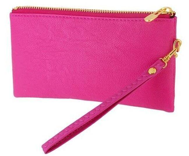 Koženková peněženka v barvě litchi 1