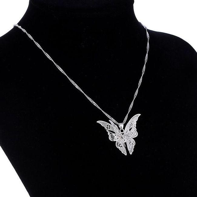 Lanț pentru femei cu fluture 3D 1