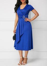Kısa kollu bayan elbise Emraha